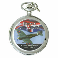 LANCASTER  BATTLE OF BRITAIN POCKET WATCH inc CHAIN BOXED GREAT GIFT IDEA