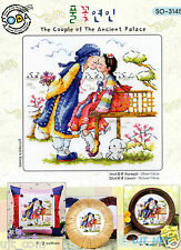 """Korean Traditional couple"" Cross stitch chart. SODAstitch SO-3145"