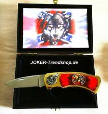 Taschenmesser Staffordshire Terrier Wolf Wachhund Security Pocket Knife