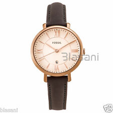 Fossil Original ES3707 Women's Jacqueline Gray Leather Watch 36mm