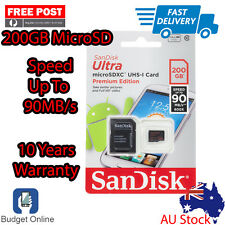 SanDisk 200GB Ultra Micro SD SDXC Class 10 90MB/s UHS-I Extreme Ship From Melb