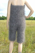 Overals top and shorts Cashmere Mohair Angora fluff Goat Fur FETISH Soft Sexy