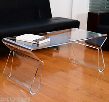 Transparent Acrylic End Table Coffee Table Home Furniture With Magazine Rack