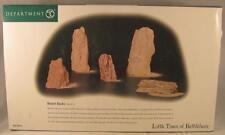 Dept 56 Little Town of Bethlehem Desert Rocks #59910 Set of 5 NIB
