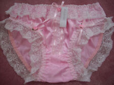 PRETTY PINK SATIN/LACE/RIBBON BOWS SISSY PANTY  SIZE 3X