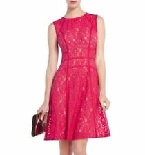 NEW BCBG TURKISH ROSE COMBO KHLOE LACE ALLOVER DRESS NEQ6T286/M601A SZ XXS