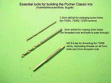 Essential tools for building Pocher Classic kit Fiat Alfa Mercedes Rolls Bugatti