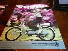 NOS NEW Vespa Vintage Brochure Bravo Moped