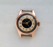 VINTAGE russian Ladies mechanical watch AVRORA Aluminum case. USSR 1960's