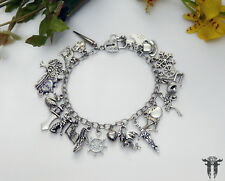 Once Upon A Time Inspired & Themed Silver Plated Charm Bracelet TV