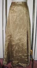 New JBS Formal Skirt 24W Long Two Layer Bronze-y Light Brown Evening Occasion