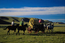 547099 Chuckwagon Under Big Sky A4 Photo Print