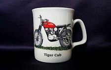Taza De Porcelana China. TIGER CUB Moto mano decorado en Gales Regalo