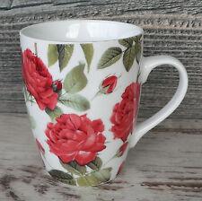 Tasse Rose Kaffeebecher floral Kaffeepot Keramik Kaffeetasse Becher rot 0,3l NEU
