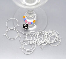 200 SP Wine Glass Charm Rings /Earring Hoops  Wedding Hen Party
