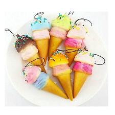 Cute Cell Phone Charms Kawaii Ice Cream Squishy With Sprinkls Bag Pendant