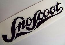Yamaha Sno-Scoot SNOW-Scoot Hood/Cowling Decal Sticker BLACK