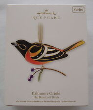 Hallmark 2011 The Beauty Of Birds #7 Series Baltimore Oriole Christmas Ornament