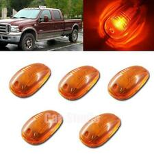 5pcs Amber Lens Safety LED Roof Maker Lights For Truck Pickup SUV OEM Cab