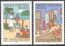 UN (NY) 1987 Medical/Health/Welfare/Immunisation/Children/Palm Trees 2v (n27782)