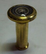 """180 Degree Peephole Door With Glass Lenses Bright Brass 1/2"""" Bore B-10"""