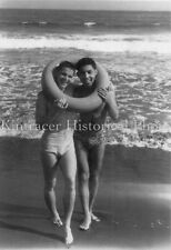 Vintage Cute Guys in Swim Suits On Beach (3 Pics) - Gay Interest