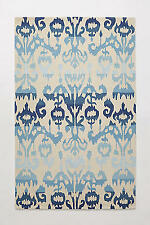 """Anthropologie Moroccan Blue Ikat Hand Tufted Rug 7'6"""" x 9'6"""", $1229, New SALE!!"""