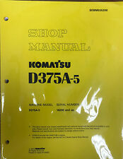Komatsu D375A-5 Service Repair Workshop Printed Manual