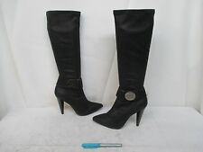 BCBG Generation PL-Amelia Black Zip Tall High Heel Boots Size 6.5 B