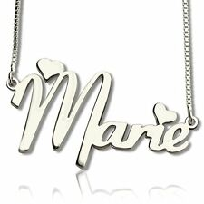 Sterling Silver Gold Custom Name Necklace & Pendant Any Personalized Name Gift