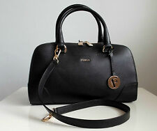 FURLA  Damen Tasche Women's Handbag DOLLY  Saffiano Leder leather onyx Neu new