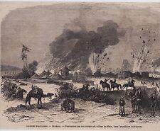 1865  --  SENEGAL   DESTRUCTION DU VILLAGE DE MAKA   3C721