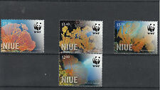 Niue 2012 MNH Giant Sea Fan 4v Set WWF Annella Mollis