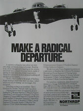 12/1989 PUB NORTHROP STEALTH B-2 BOMBER CAREER BOMBARDIER FURTIF ORIGINAL AD