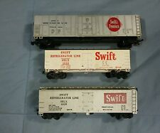 Lot of 3 different HO Scale Swift Refrigerator Line Box Cars