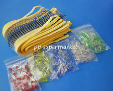 1000pcs resistor+ 500pcs 3mm round top LED Light Assorted box DIY Set