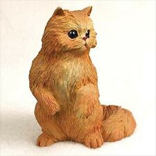 Persian Red Cat Sitting Hand Painted Canine Collectable Figurine Statue