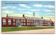 Mid-1900s James Wood High School, Winchester, VA Postcard