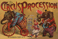 The Circus Procession 1888 Vintage Reproduction Elephant Print Poster 11x14
