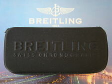 BREITLING SEMI RIGID BLACK ZIPPERED WATCH BOX SUNGLASSES CASE W/ INTERIOR PAD