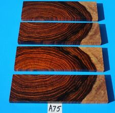 2 PAIRS CROSS CUT COCOBOLO KNIFE BLANK HANDLE SCALES  EXOTIC LUMBER/EXOTIC WOOD