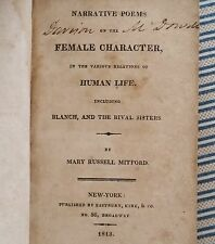 RARE 1st Ed. Mary Russell Mitford NARR. POEMS on the FEMALE CHARACTER... 1813