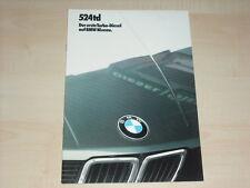 62995) BMW 5er Reihe E28 524td Prospekt 02/1983