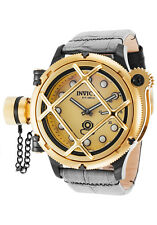 NEW Invicta Men's 16358 Russian Diver Swiss Made Mechanical Nautilus Gold Tone