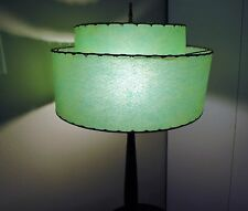 Mid Century Modern - True Vintage - 2 Tier Green Fiberglass Lamp Shade - Large
