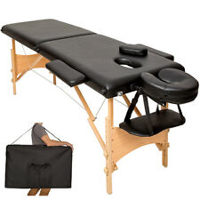 Table banc 2 zones lit de massage pliante cosmetique esthetique noir + sac