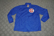 Vtg Mitchell & Ness Chicago Cubs MLB Battery Nylon Starter Jacket sz 48 XL