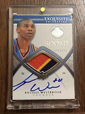 2008-09 Exquisite Russell Westbrook Rookie Patch Auto /225 RPA RC Card MVP?