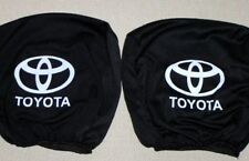 2 pcs Black headrest covers for Toyota Yaris Auris Corolla AYGO Avensis RAV4