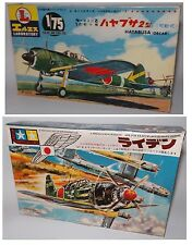 AVIATION : 2 x JAPANESE ZERO TYPE PLASTIC MODEL KITS